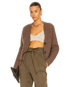 Rib Knit Sweater in Brown