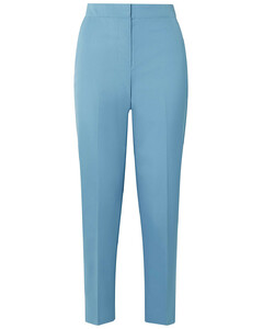 Cropped cotton-twill tapered pants