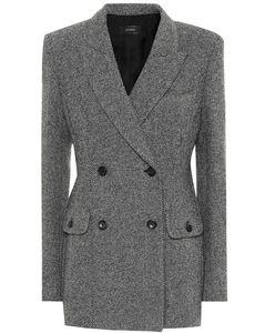 羊毛混纺西装式外套