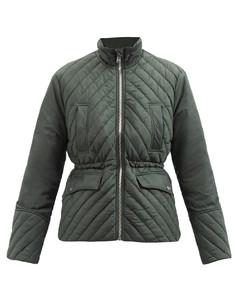 High-neck padded-shell jacket