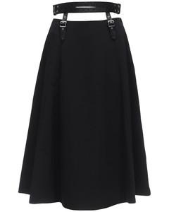 High Waist Satin Skirt W/ Belt