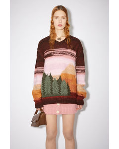 High-rise wool grain-de-poudre wide-leg trousers