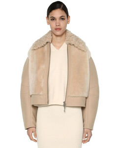 Virgin Wool Blend & Shearling Jacket