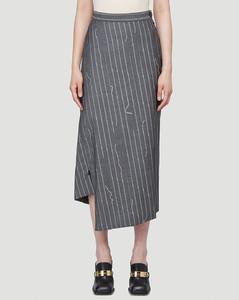 Infinity Mid-Length Skirt in Grey