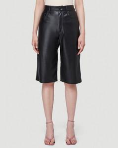 Nampeyo Faux-Leather Shorts in Black