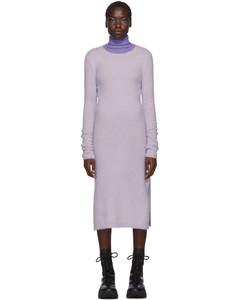 紫色Kathilde馬海毛連衣裙