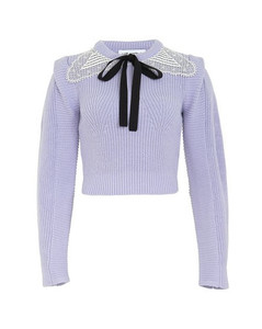 Lace-collar sweater