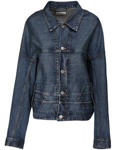 Over Upside Down Cotton Denim Jacket