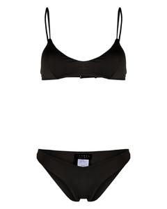Theodora单肩露背平纹布超长连衣裙