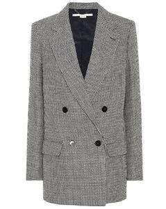 千鸟格双排扣西装式外套