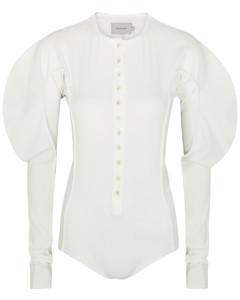 White stretch-jersey bodysuit