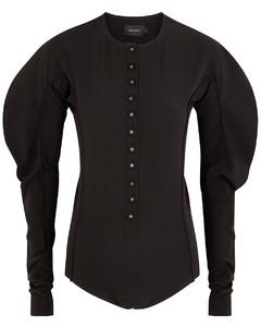Black stretch-jersey bodysuit