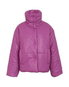 Hide puffer jacket in vegan leather