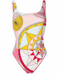 Compass print swimsuit