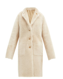 Brittany reversible shearling and leather coat