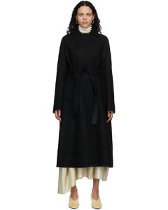 黑色Sport羊毛风衣