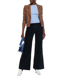Woman Cotton-chenille Wide-leg Pants
