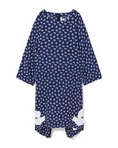 針織條紋連衣裙