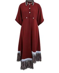 Fringed wool dress