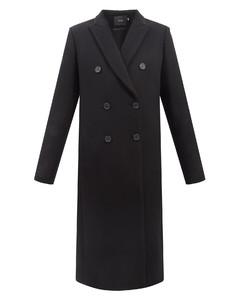 黑色Ancona长袖连衣裙