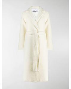 wrap mid-length coat