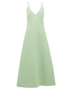 A-line wool-blend dress