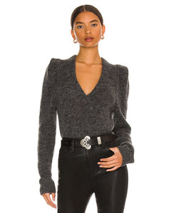 Medium Grey Wool Tweed Double Tattersal Single Frame Frayed Skirt