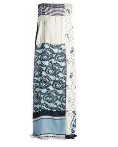 Dulcia paisley-print boat-neck dress