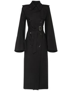 Belted Cotton Gabardine Trench Coat