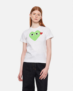 Cotton T-shirt with heart print