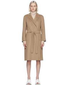黄褐色Pauline羊毛大衣