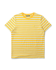 Striped face patch tee