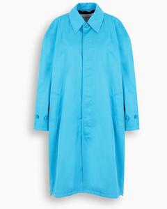 Light blue single-breasted car coat
