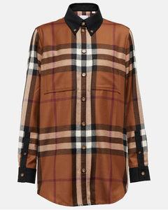 Fluted-hem ribbed wool-blend coat