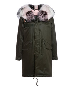 Classic Jazzy Parka For Woman With Fox Fur