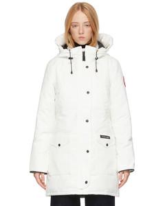 白色Trillium羽绒派克大衣