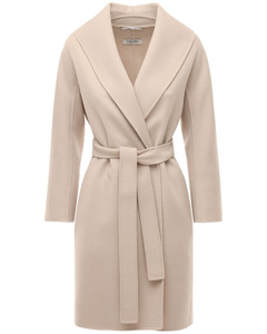 Messi Belted Virgin Wool Wrap Coat