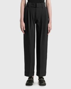 Heavy Crepe High-rise Straight Pants