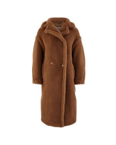 Teddy camel wool coat