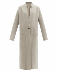 Amie single-breasted double-faced cashmere coat