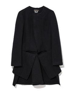Cut-out wool felt coat