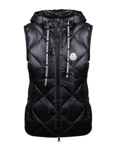Black Logo Patch Quilted Gilet