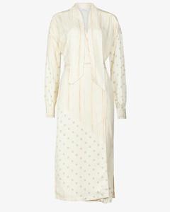 Romi striped twill midi wrap dress