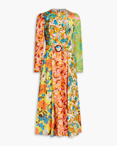 Reversible striped knitted wool cape