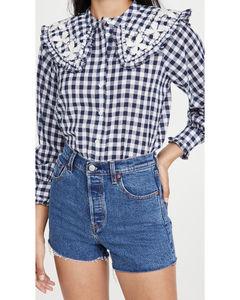 Gina格子长袖女式衬衫
