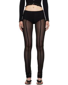 Macramé-hood leather coat