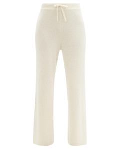 Heather ribbed cashmere trousers