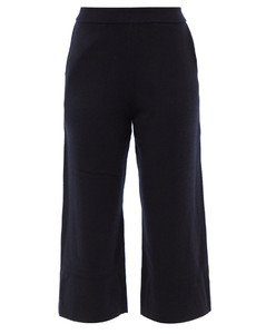 Cropped cashmere trousers