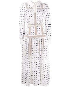 幾何波點印花襯衫裙