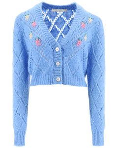 Cardigans Alessandra Rich for Women Light Blue
